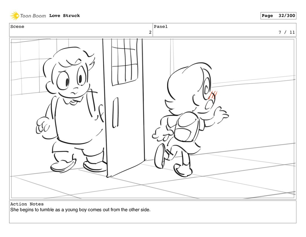 Scene 2 Panel 7 / 11 Action Notes She begins to...