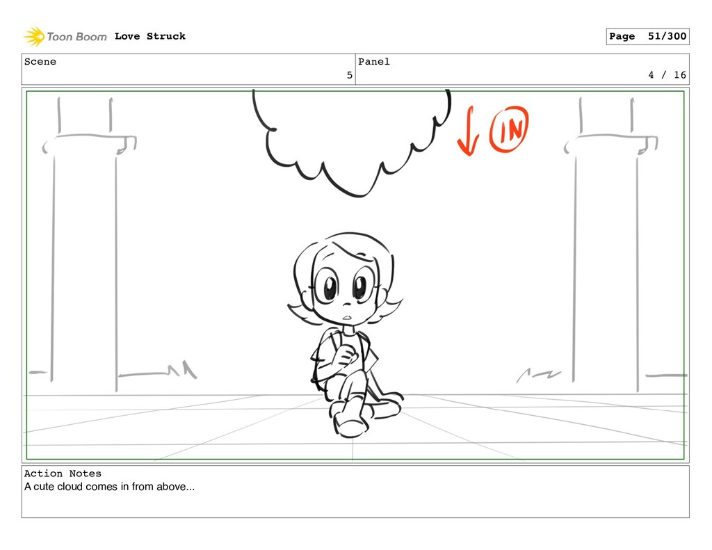 Scene 5 Panel 4 / 16 Action Notes A cute cloud ...