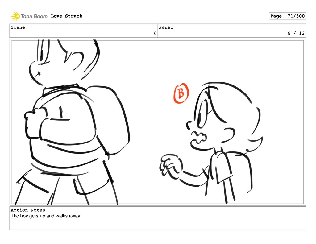 Scene 6 Panel 8 / 12 Action Notes The boy gets ...