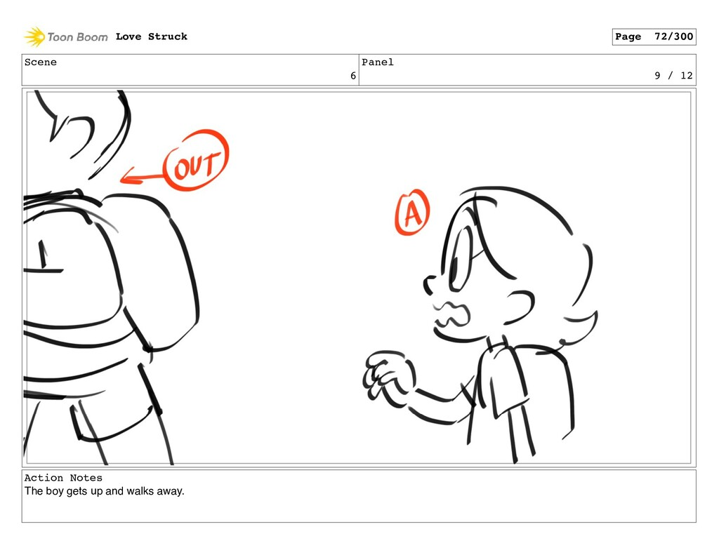 Scene 6 Panel 9 / 12 Action Notes The boy gets ...