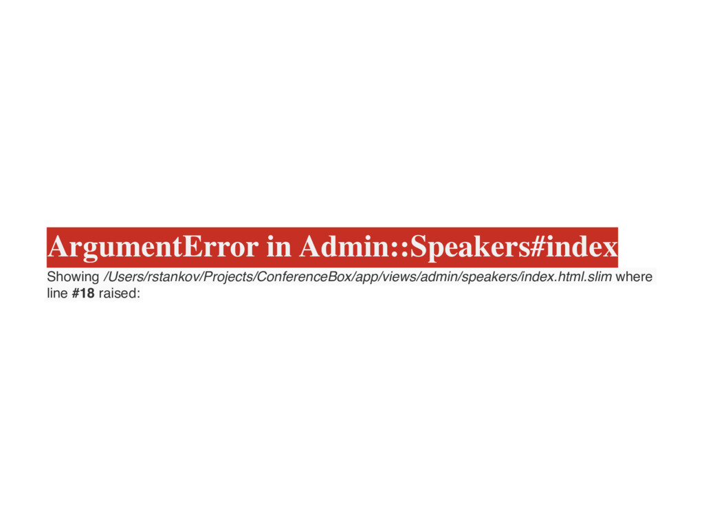 ArgumentError in Admin::Speakers#index Showing ...