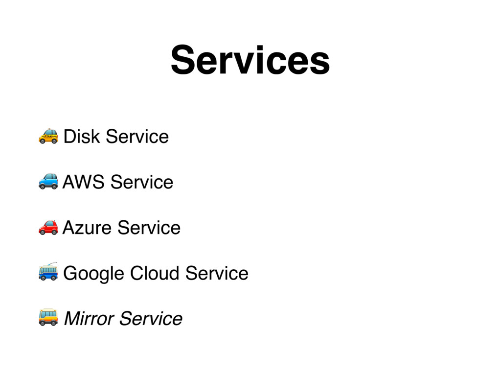 $ Disk Service % AWS Service & Azure Service ' ...