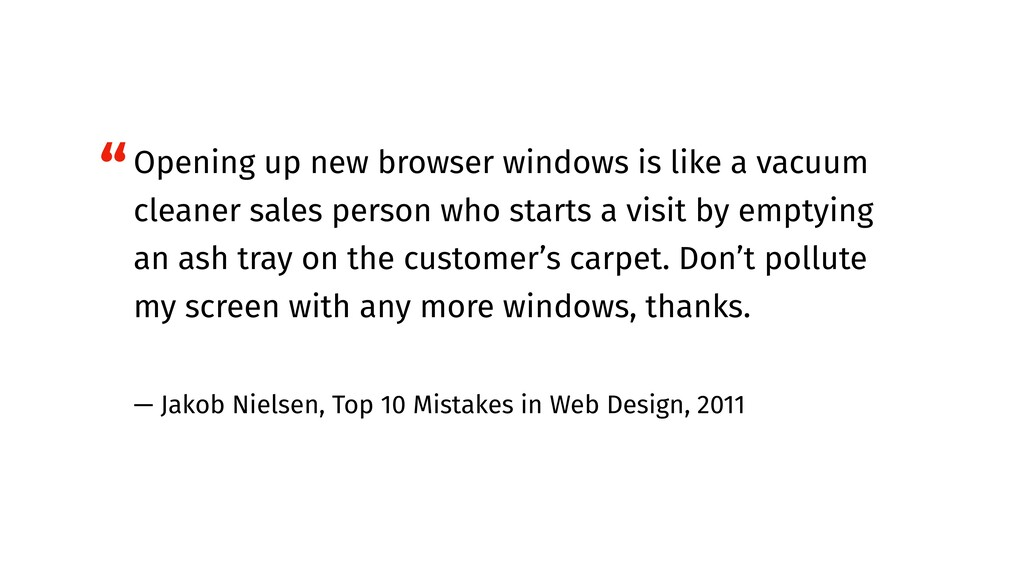 Opening up new browser windows is like a vacuum...