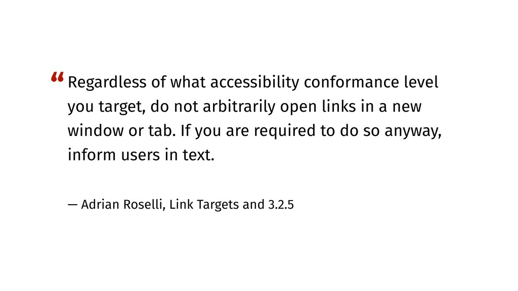 Regardless of what accessibility conformance le...
