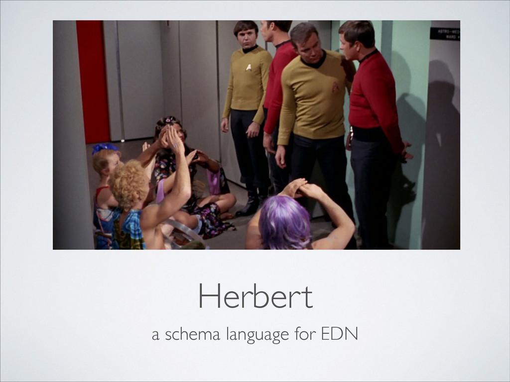 Herbert a schema language for EDN