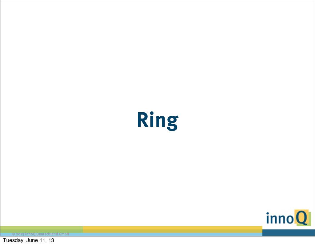 © 2013 innoQ Deutschland GmbH Ring Tuesday, Jun...