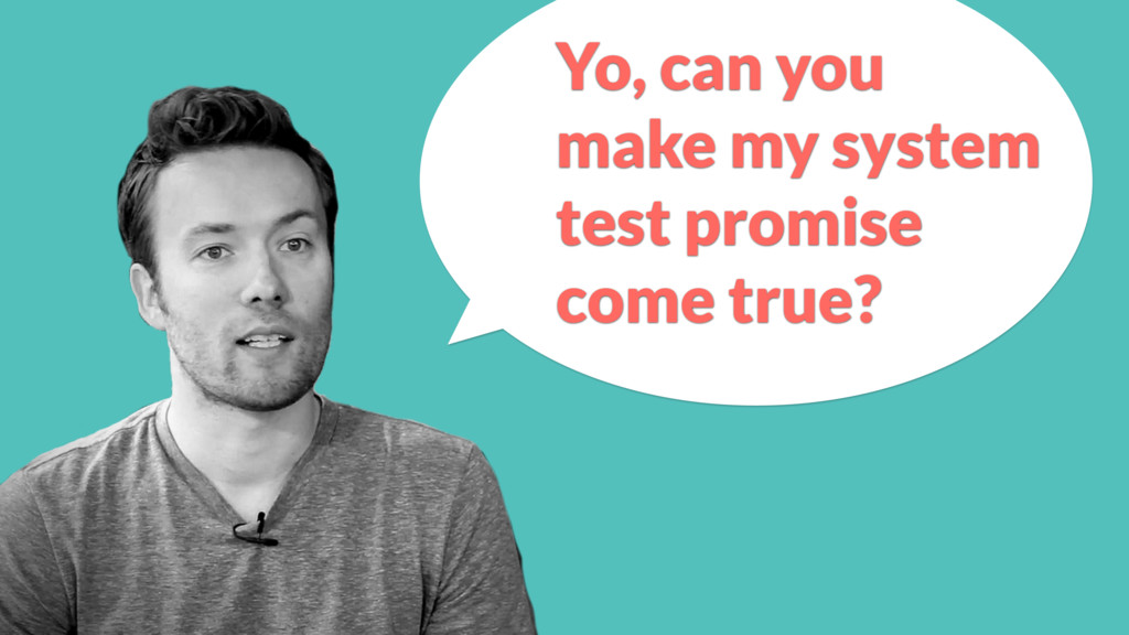 Yo, can you make my system test promise come tr...