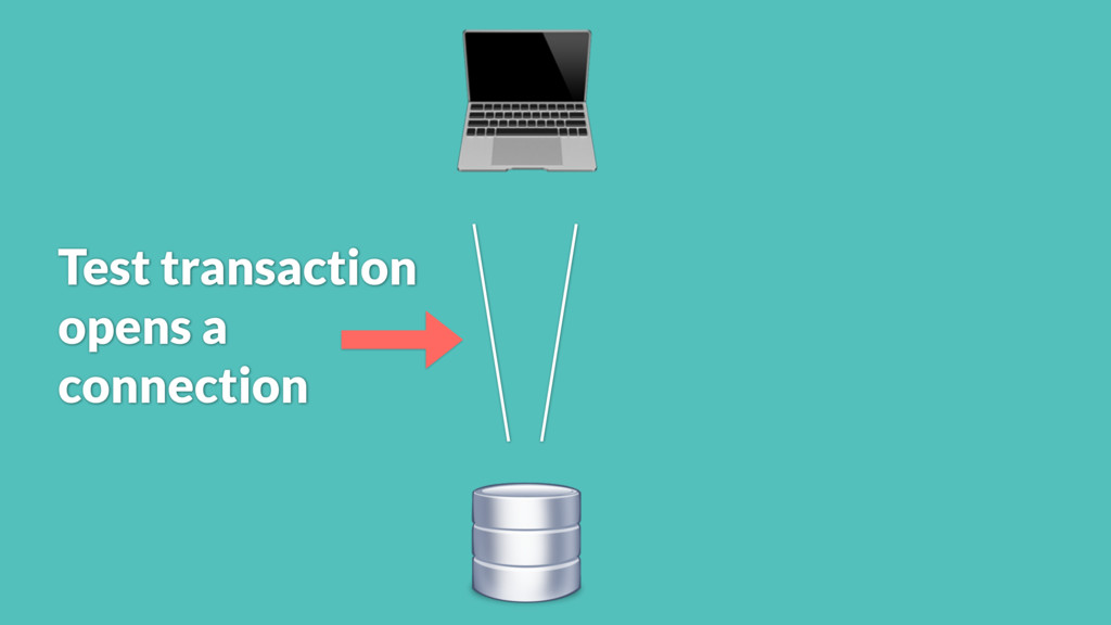 Test transaction opens a connection