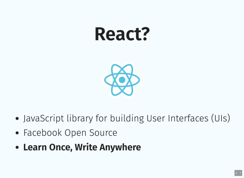 React? JavaScript library for building User Int...