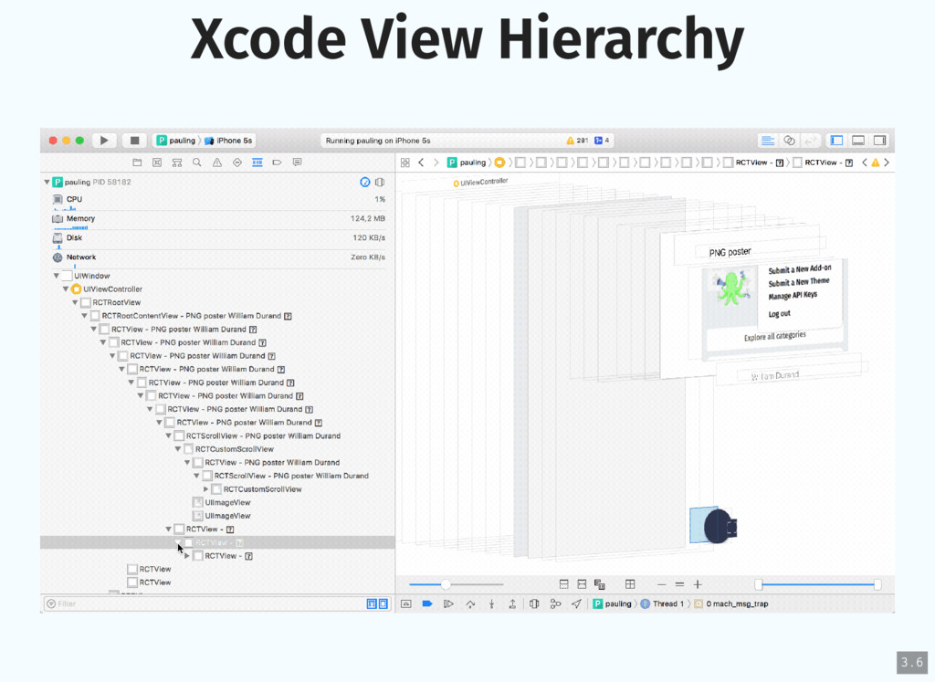 Xcode View Hierarchy 3 . 6