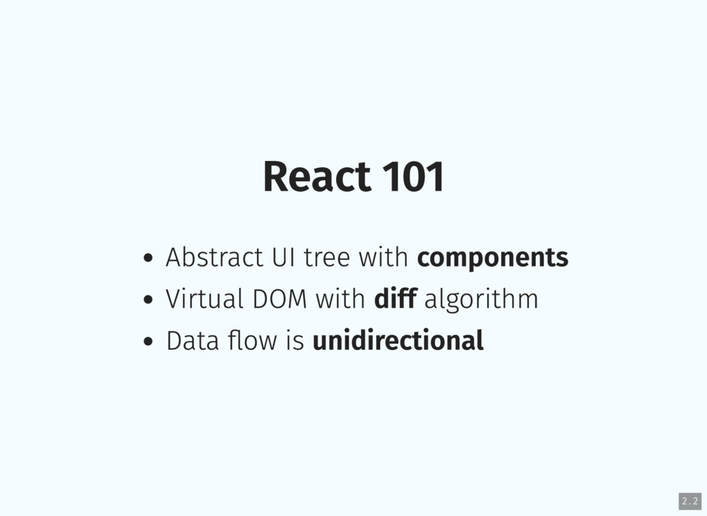 React 101 Abstract UI tree with components Virt...