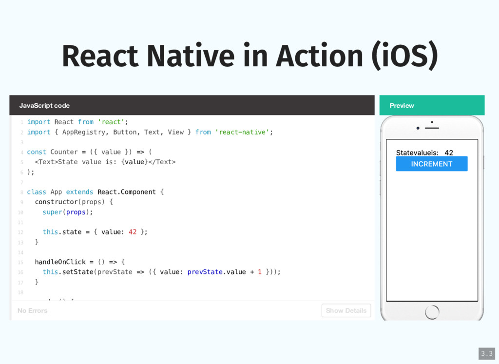 React Native in Action (iOS) JavaScript code No...
