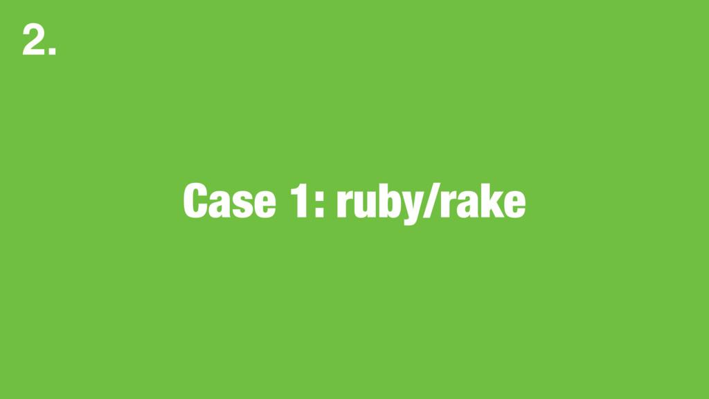 Case 1: ruby/rake 2.