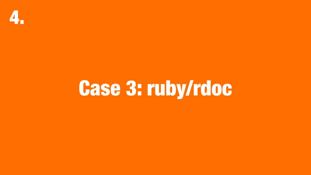 Case 3: ruby/rdoc 4.