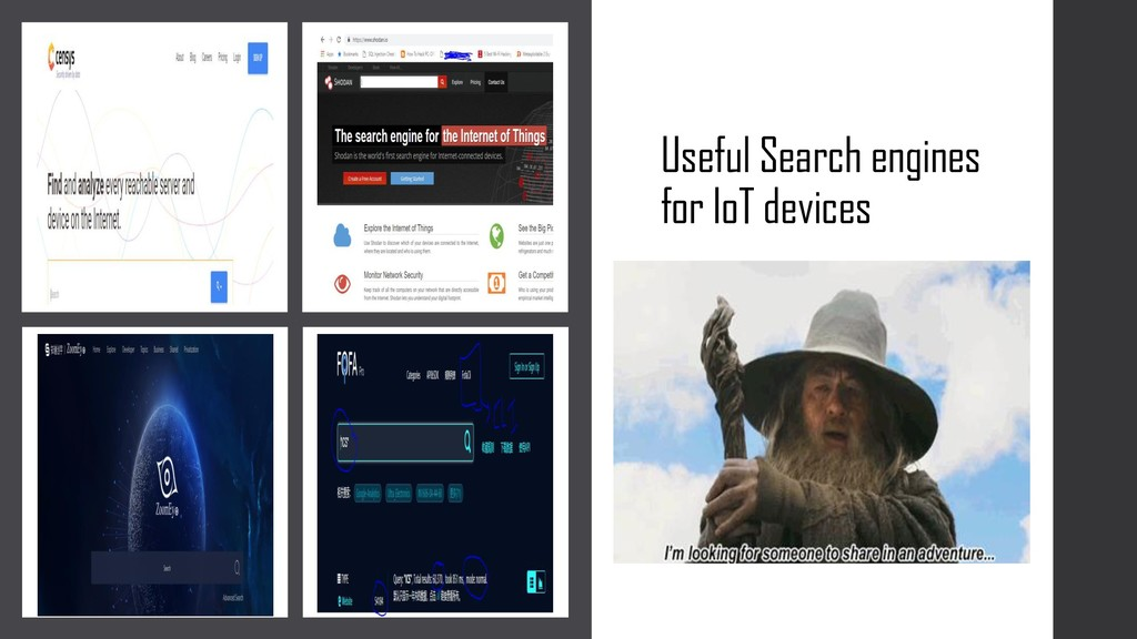 Useful Search engines for IoT devices