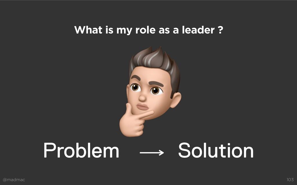 @madmac 103 What is my role as a leader ? Solut...