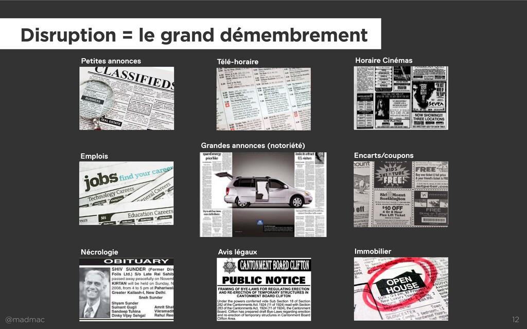 @madmac 12 Disruption = le grand démembrement P...