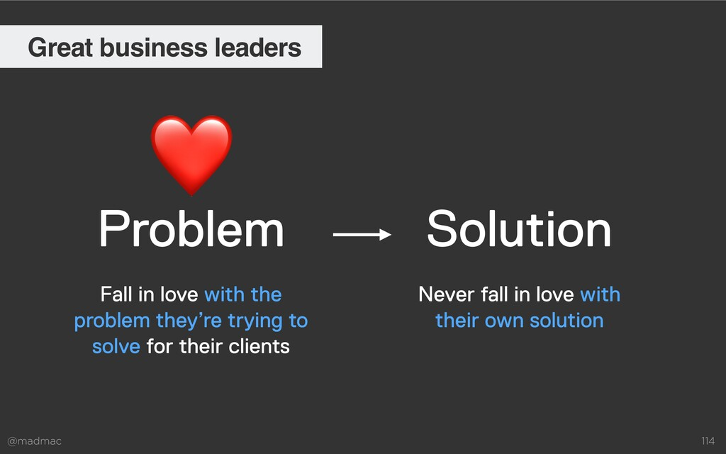 @madmac 114 Problem Solution Never fall in love...