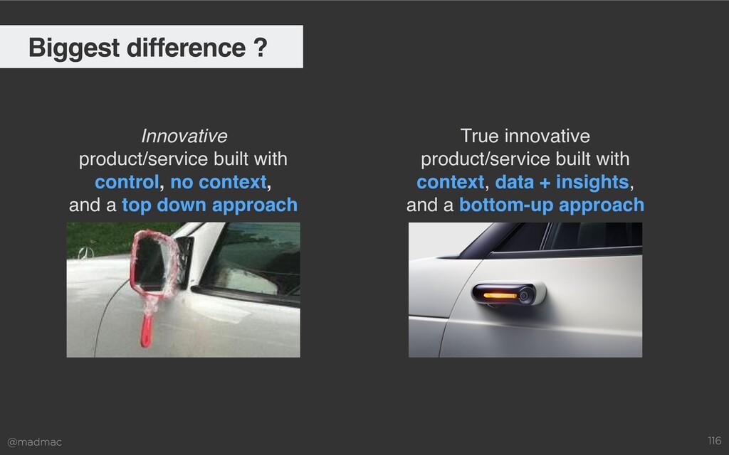 @madmac 116 Biggest difference ? Innovative pr...
