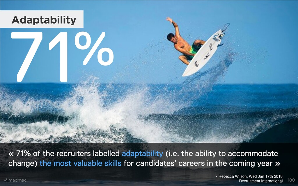 @madmac « 71% of the recruiters labelled adapta...