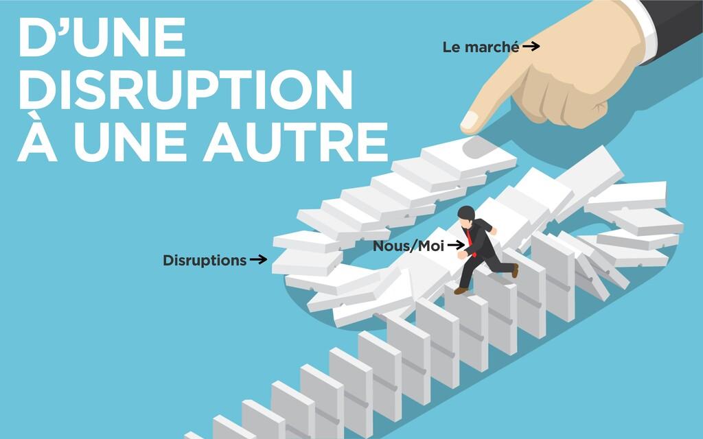 D'UNE DISRUPTION  À UNE AUTRE Nous/Moi Le marc...