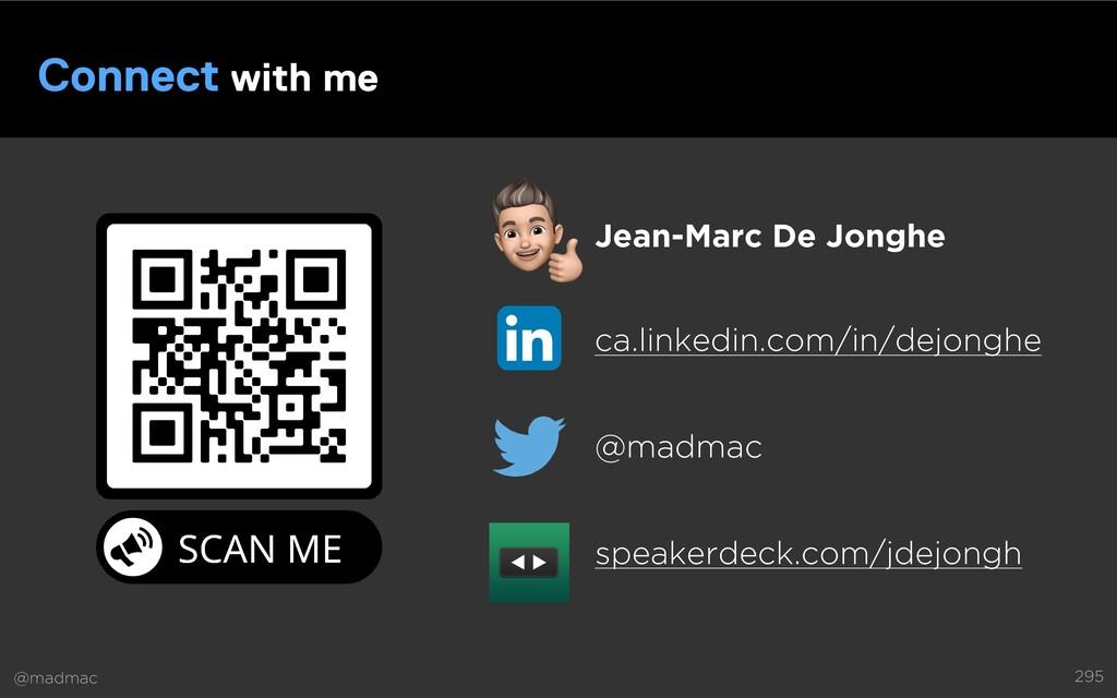 @madmac 295 Connect with me Jean-Marc De Jonghe...