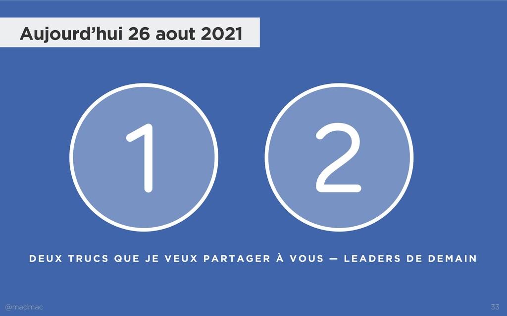 @madmac 33 1 2 Aujourd'hui 26 aout 2021 D E U X...
