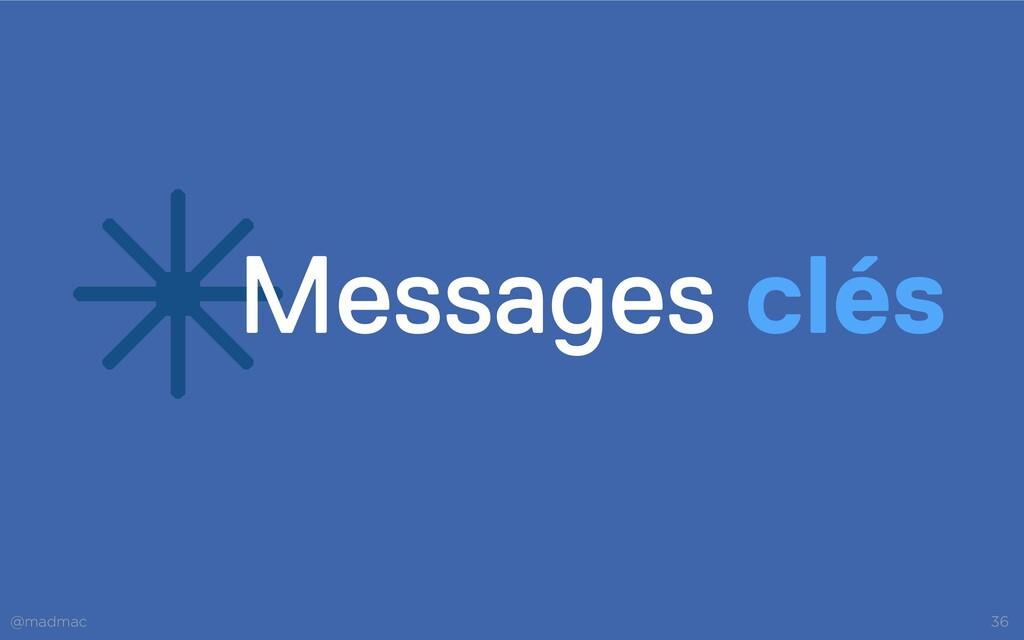 @madmac 36 *Messages clés