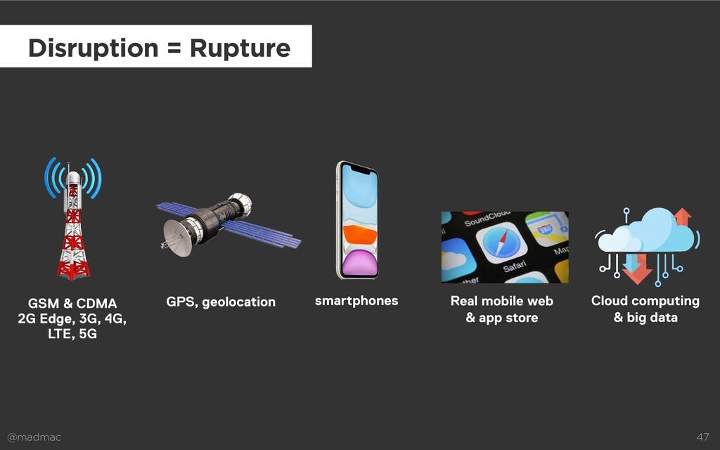 @madmac 47 smartphones Disruption = Rupture Rea...