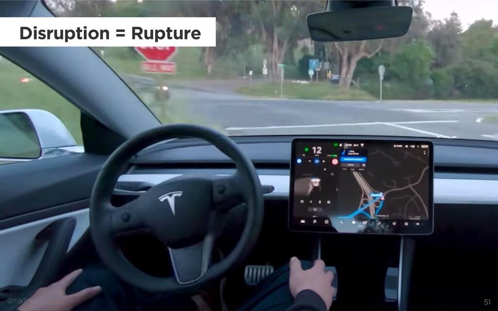 @madmac 51 Disruption = Rupture @madmac