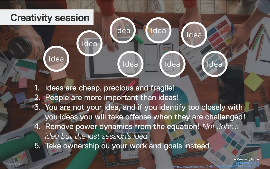 @madmac 86 Creativity session Idea Idea Idea Id...