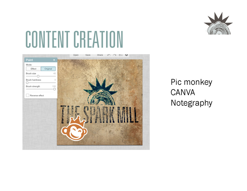 CONTENT CREATION Pic monkey CANVA Notegraphy