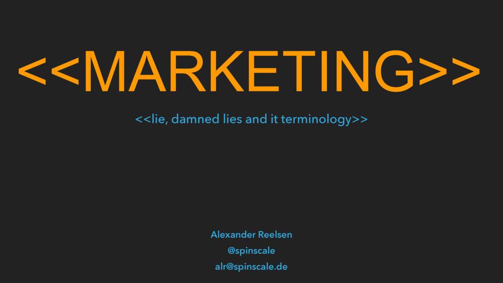 <<MARKETING>> Alexander Reelsen @spinscale alr@...