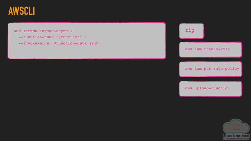AWSCLI zip aws lambda invoke-async \ --function...