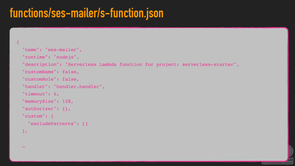 "functions/ses-mailer/s-function.json { ""name"": ..."
