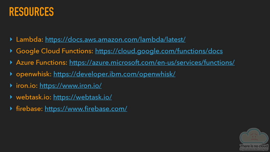 RESOURCES ▸ Lambda: https://docs.aws.amazon.com...