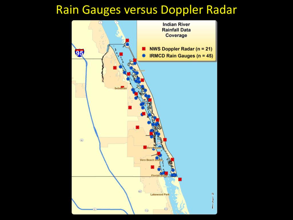 Rain Gauges versus Doppler Radar