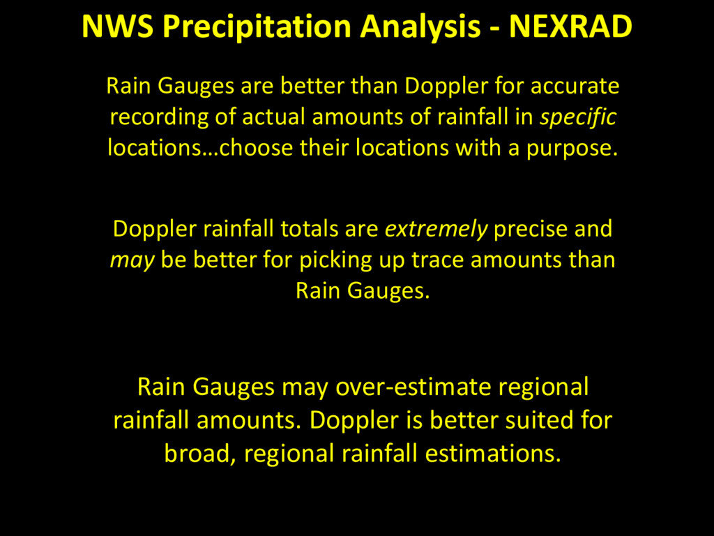 Rain Gauges are better than Doppler for accurat...
