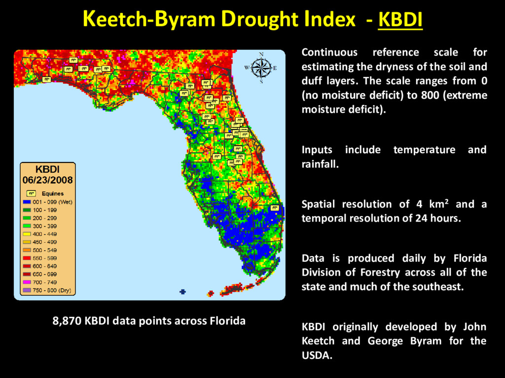 Keetch-Byram Drought Index - KBDI Continuous re...