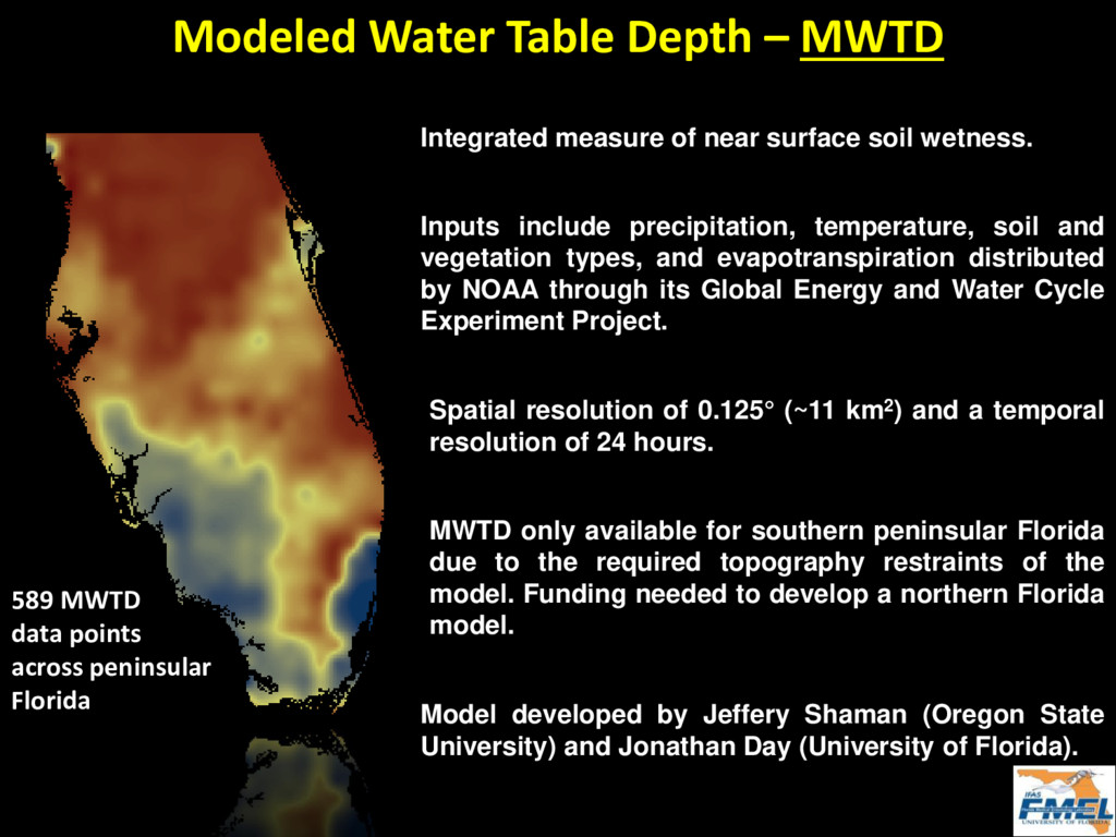 Integrated measure of near surface soil wetness...