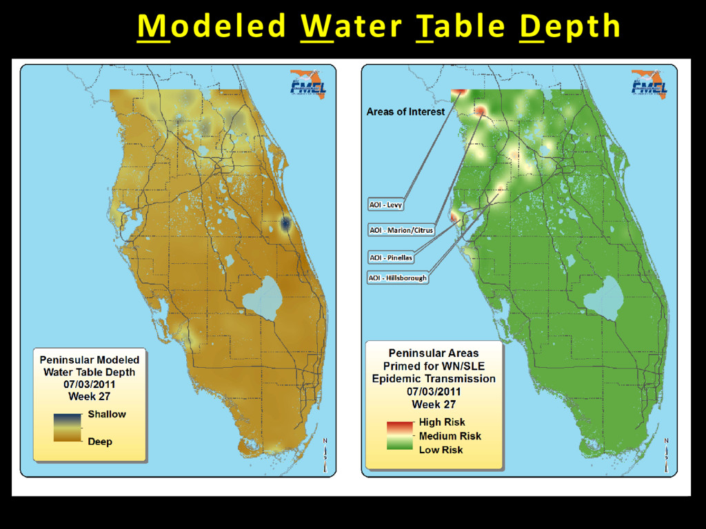 Modeled Water Table Depth