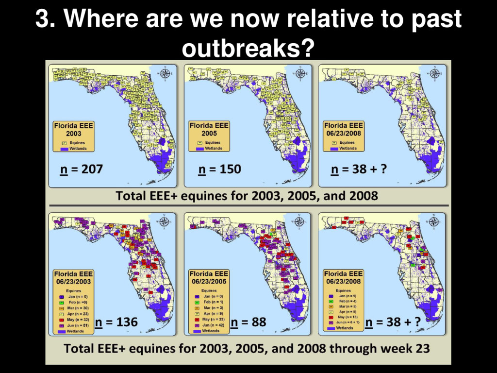 3. Where are we now relative to past outbreaks?