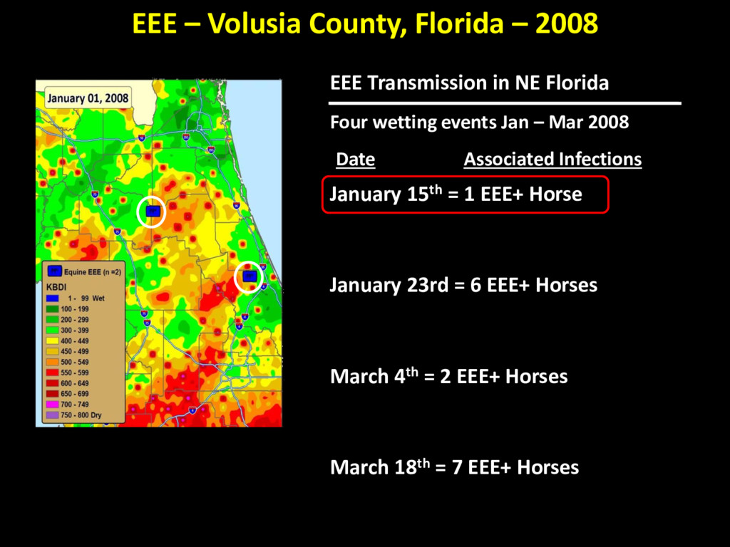 EEE Transmission in NE Florida Four wetting eve...