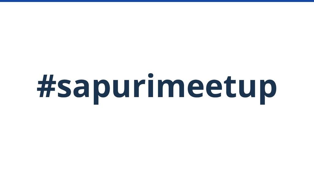 #sapurimeetup