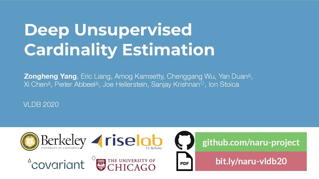 Deep Unsupervised Cardinality Estimation Zonghe...