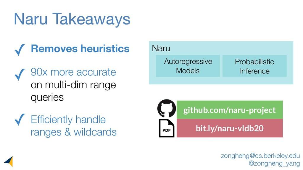 github.com/naru-project bit.ly/naru-vldb20 Naru...