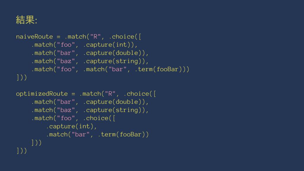 "݁Ռ: naiveRoute = .match(""R"", .choice([ .match(""..."