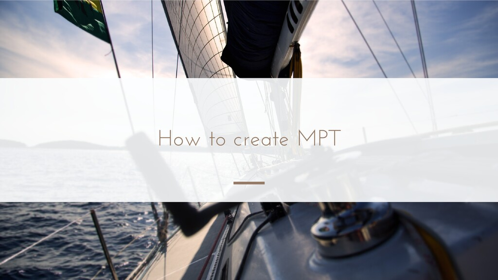 How to create MPT