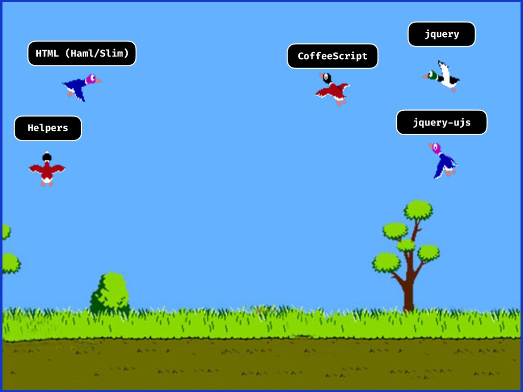HTML (Haml/Slim) CoffeeScript jquery Helpers jq...