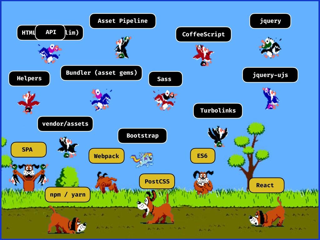 HTML (Haml/Slim) Asset Pipeline CoffeeScript jq...